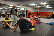 Johny Hendricks trains in Pantego, Texas on November 14, 2014.