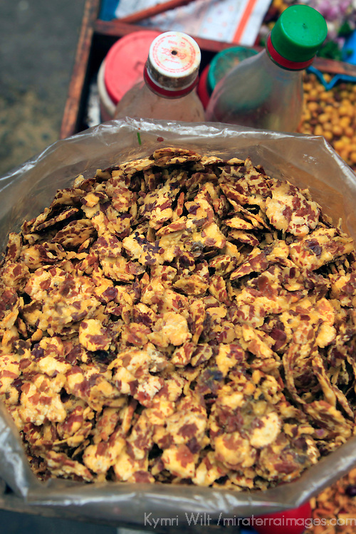 Asia, India, Roadside snack mix of the Himalayan region of Darjeeling.