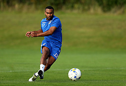 Jermaine Easter of Bristol Rovers shoots at goal during training - Mandatory by-line: Robbie Stephenson/JMP - 15/09/2016 - FOOTBALL - The Lawns Training Ground - Bristol, England - Bristol Rovers Training