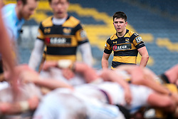 Sam Spink of Wasps U18 looks on - Rogan Thomson/JMP - 16/02/2017 - RUGBY UNION - Sixways Stadium - Worcester, England - Wasps U18 v Exeter Chiefs U18 - Premiership Rugby Under 18 Academy Finals Day 3rd Place Play-Off.