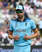 Mark Wood of England during the ICC Cricket World Cup 2019 semi final match between Australia and England at Edgbaston, Birmingham, United Kingdom on 11 July 2019.
