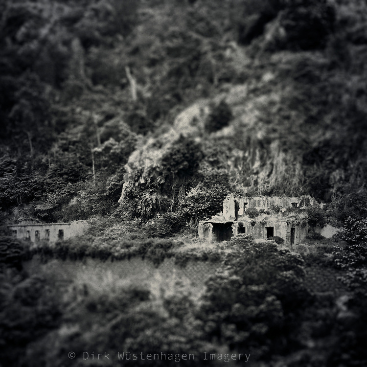 Ruins alomg one of the levadas on the island of Madeira/Portugal