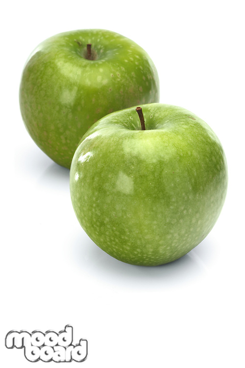 Apples on whit ebackground - close-up