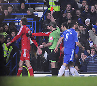 Photo: Tony Oudot/Sportsbeat Images.<br /> Chelsea v Liverpool. Carling Cup, Quarter Final. 19/12/2007.<br /> Peter Crouch of Liverpool is shown the red card