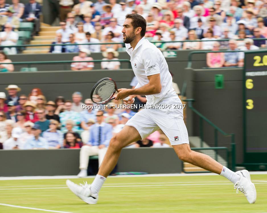 MARIN CILIC (CRO), Bewegungsunschaerfe,Mitzieher<br /> <br /> Tennis - Wimbledon 2017 - Grand Slam ITF / ATP / WTA -  AELTC - London -  - Great Britain  - 12 July 2017.