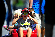 31 August - 2 September, 2012, Baltimore, Maryland USA.A young fan covers his ears during Indycar practice. .(c)2012, Jamey Price.LAT Photo USA