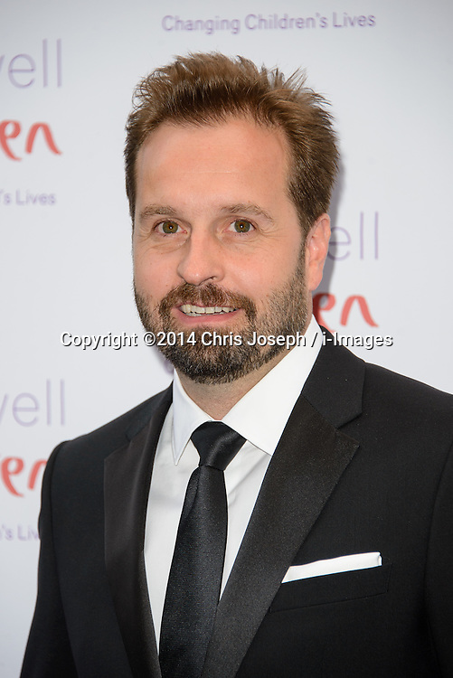 Alfie Boe attends the Caudwell Butterfly Ball. Grosvenor House Hotel, Park Lane, London, United Kingdom. Thursday, 15th May 2014. Picture by Chris Joseph / i-Images