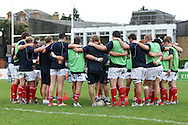 The pre-match teamtalk during the B&amp;I Cup match between London Scottish &amp; Bristol Rugby at Richmond, Greater London on Saturday 18th October 2014<br /> <br /> Photo: Ken Sparks | UK Sports Pics Ltd<br /> London Scottish v Bristol Rugby, B&amp;I Cup,18th October 2014<br /> <br /> &copy; UK Sports Pics Ltd. FA Accredited. Football League Licence No:  FL14/15/P5700.Football Conference Licence No: PCONF 051/14 Tel +44(0)7968 045353. email ken@uksportspics.co.uk, 7 Leslie Park Road, East Croydon, Surrey CR0 6TN. Credit UK Sports Pics Ltd