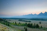 Twilight over the Teton Range, Grand Teton National Park Wyoming