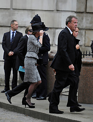 © Licensed to London News Pictures. 17 April 2013. St Paul's Cathedral London. Jeremy Clarkson. Funeral of Baroness Thatcher, former Conservative Prime Minister. Photo credit : MarkHemsworth/LNP