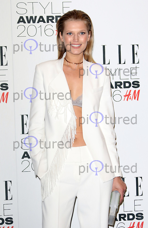 Toni Garrn, ELLE Style Awards 2016, Millbank London UK, 23 February 2016, Photo by Richard Goldschmidt