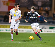 Dundee&rsquo;s Craig Wighton runs at Partick Thistle&rsquo;s Callum Booth - Dundee v Partick Thistle in the Ladbrokes Scottish Premiership at Dens Park, Dundee. Photo: David Young<br /> <br />  - &copy; David Young - www.davidyoungphoto.co.uk - email: davidyoungphoto@gmail.com