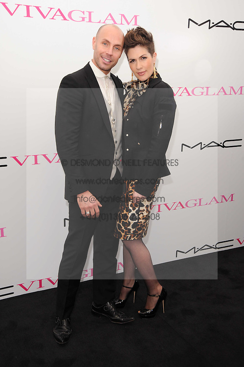 JASON GARDINER and   at the MAC VIVA GLAM discussion hosted by Sharon Osbourne to promote MAC's latest fundraising range with all proceeds donated to HIV/AIDs charities via the MAC AIDS Fund, at Il Bottaccio, 9 Grosvenor Place, London on 1st March 2010.