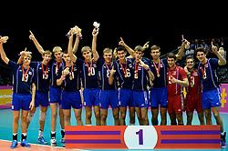 19-07-2013 VOLLEYBAL: EYOF CEREMONIE: UTRECHT<br /> Rusland met de gouden medaille<br /> &copy;2013-FotoHoogendoorn.nl