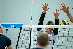 21-12-2019 NED: AVV Keistad - Lycurgus, Amersfoort<br /> 1/4 final National Cup season volleyball men, Lycurgus win 3-0 / Geoffrey van Gent #6 of Lycurgus