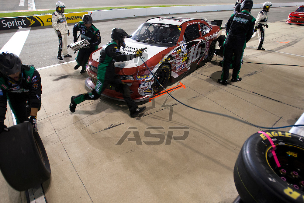 Richmond, VA - APR 26, 2013: The NASCAR Nationwide Series takes to the track for the Toyota Owners 250 at Richmond International Raceway in Richmond, VA.