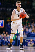 SOUTH BEND, IN - JANUARY 12: Nate Laszewski #14 of the Notre Dame Fighting Irish passes the ball off during the game against the Boston College Eagles at Purcell Pavilion on January 12, 2019 in South Bend, Indiana. (Photo by Michael Hickey/Getty Images) *** Local Caption *** Nate Laszewski