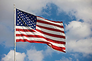 Stars and Stripes American flag on flagpole in Florida, United States of America