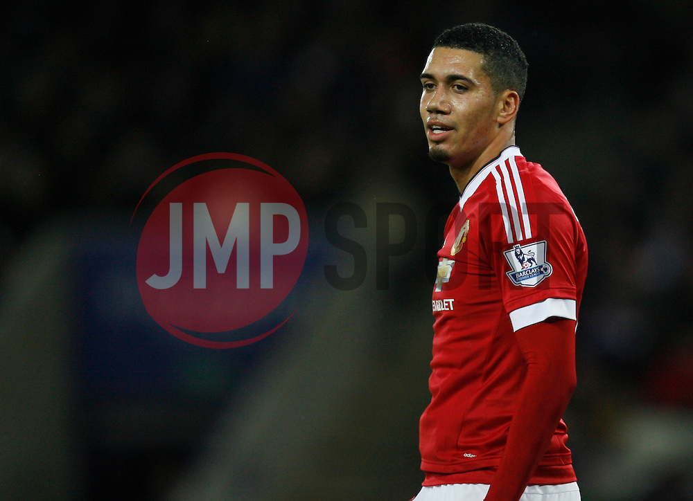 Chris Smalling of Manchester United  - Mandatory byline: Jack Phillips/JMP - 07966386802 - 28/11/2015 - SPORT - FOOTBALL - Leicester - King Power Stadium - Leicester City v Manchester United - Barclays Premier League