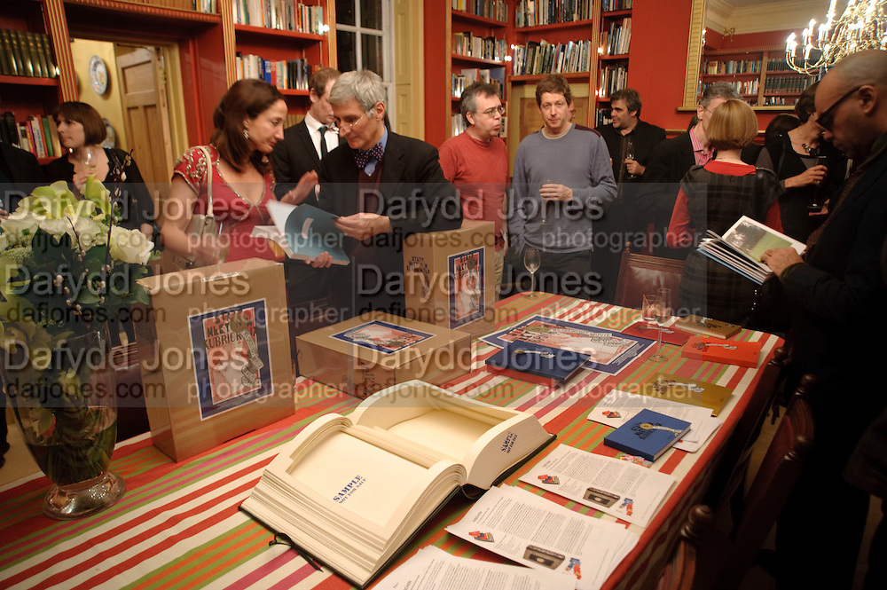 Stanley Kubrick's Napoleon. The Greatet Movie Never Made. Book launch.  Published by Taschen. Launch held at Kubrick's family home Childwickbury House. Harpenden. 8 December 2009