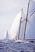 Elena of London sailing during the St. Barth's Bucket 2011 race 1.
