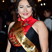 Jenet Ho the Classic Miss Dorset 2020 Arrivers at Gold Movie Awards at Regents Street Theatre, on 9th January 2020, London, UK