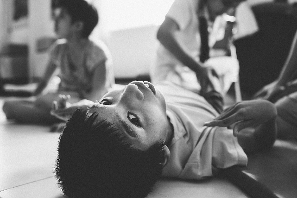 The Friendship Village just outside of Hanoi, Vietnam acts as an orphange, school, and care center for about 120 children from across the country suffering from past generations' exposure to the toxic defoliant used during the Vietnam-American War, Agent Orange.