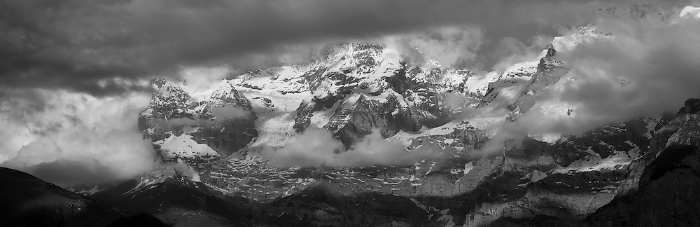 Europe, Switzerland, Bern, Bernese Oberland, Bernese Alps with Eiger