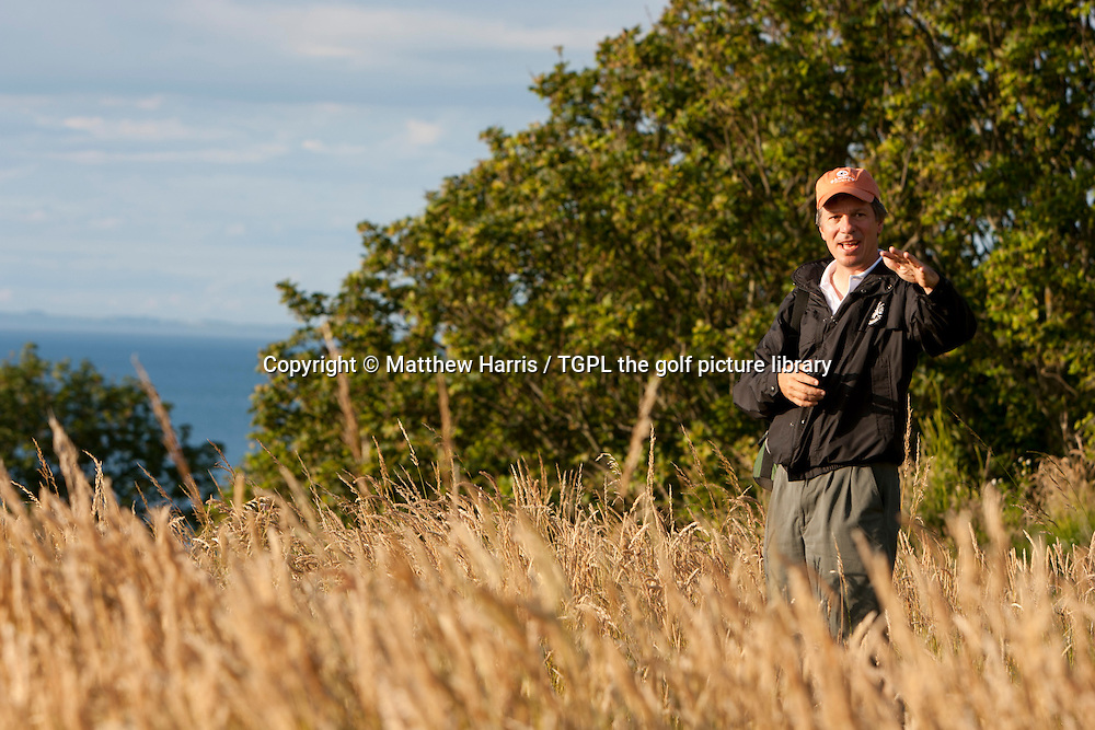 Course architect Tom DOAK (USA) walks The Renaissance Club during summer Gullane,East Lothian,Scotland.