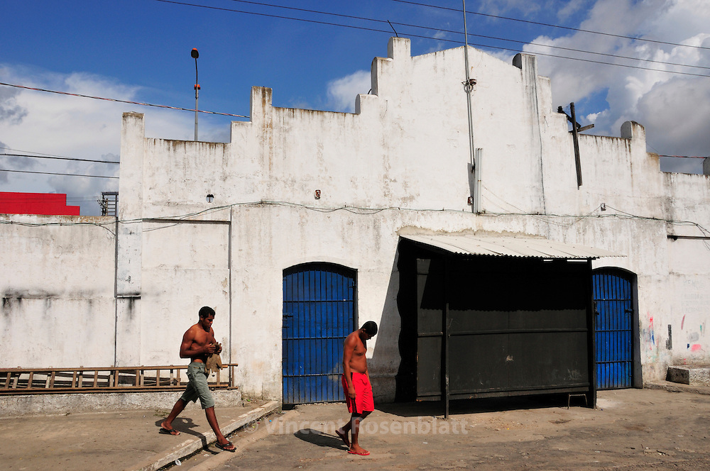 The Caroussel, popular party hall, in the center of Belem, one of the main space for Tecnobrega parties, twice a week..