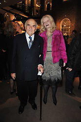 LORD & LADY WEIDENFELD at a party to celebrate the launch of Simon Sebag-Montefiore's new book - 'Jerusalem: The Biography' held at Asprey, 167 New Bond Street, London on 26th January 2011.