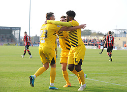 Bristol Rovers celebrate Ellis Harrison goal - Mandatory byline: Neil Brookman/JMP - 07966 386802 - 03/10/2015 - FOOTBALL - Globe Arena - Morecambe, England - Morecambe FC v Bristol Rovers - Sky Bet League Two