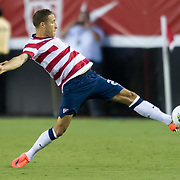 May 26 2012: USA's Fabian Johnson (23) reaches out to stop a ball during the first half of play of the U.S. Men's National Soccer Team game against Scotland at Everbank Field in Jacksonville, FL. USA defeated Scotland 5-1.