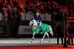 FUCHS Martin (SUI), Clooney 51<br /> Genf - CHI Geneve Rolex Grand Slam 2019<br /> Siegerehrung<br /> Rolex Grand Prix - Stechen<br /> Internationale Springprüfung mit Stechen<br /> International Jumping Competition 1m60<br /> Grand Prix Against the Clock with Jump-Off<br /> 15. Dezember 2019<br /> © www.sportfotos-lafrentz.de/Stefan Lafrentz