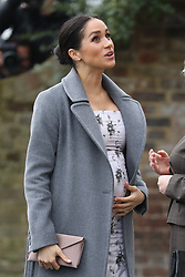 December 18, 2018 - London, United Kingdom - Meghan Markle, The Duchess of Sussex, arriving for a visit to Brinsworth House, the Royal Variety Charity's residential nursing and care home  in Twickenham, United Kingdom. (Credit Image: © Stephen Lock/i-Images via ZUMA Press)