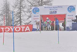 FARKASOVA Henrieta Guide: SUBRTOVA Natalia, B3, SVK at 2018 World Para Alpine Skiing World Cup slalom, Veysonnaz, Switzerland