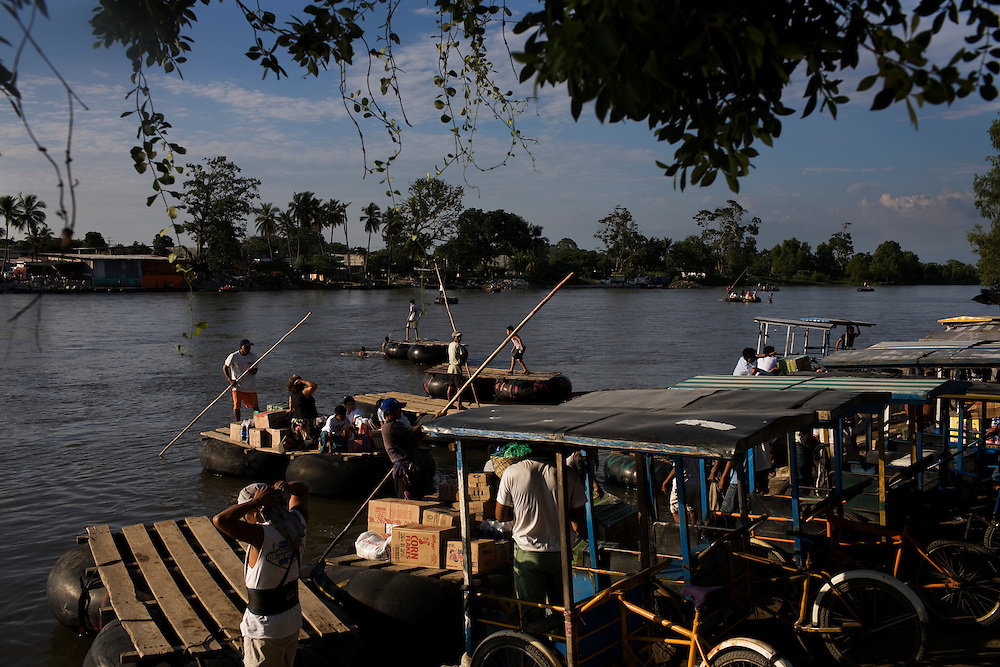 The Suchiate River used to be a major transit point for Central American migrants trying to get to the United States.  They would flow across the river into Ciudad Hidalgo, Mexico and hop a freight train heading north.  A hurrican destroyed much of the train tracks and now migrants must make it further north, to Arriaga, before catching the train.  Nonetheless, many migrants still cross this southern border hoping to, eventually, also cross the northern border into the US.