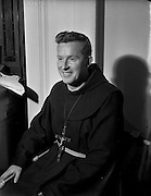 11/02/1953<br /> 02/11/1953<br /> 11 February 1953<br /> Franciscan Friar Rev. Fr. Berchmans O'Byrne O.F.M., Co. Laois, receiving the Missionary Cross at Merchant's Quay, Dublin.