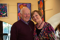 Frank and Mary Downes , Moycullen at Frank O'Sullivan 's Exhibition of new work opening at the Town Hall Theatre Galway which runs till Wed the 15th of JunePhoto:Andrew Downes, xposure