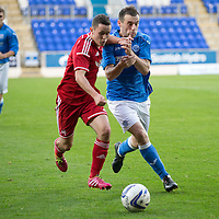 SPFL Development League...St Johnstone v Aberdeen..01.10.14<br /> New St Johnstone signing James McFadden battles with Craig Murray<br /> Picture by Graeme Hart.<br /> Copyright Perthshire Picture Agency<br /> Tel: 01738 623350  Mobile: 07990 594431