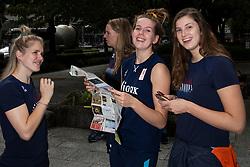 05-10-2018 JPN: World Championship Volleyball Women day 7, Nagoya<br /> Travel day from Yokohama to Nagoya with the bullet train. Kirsten Knip #1 of Netherlands, Tessa Polder #20 of Netherlands, Juliet Lohuis #7 of Netherlands