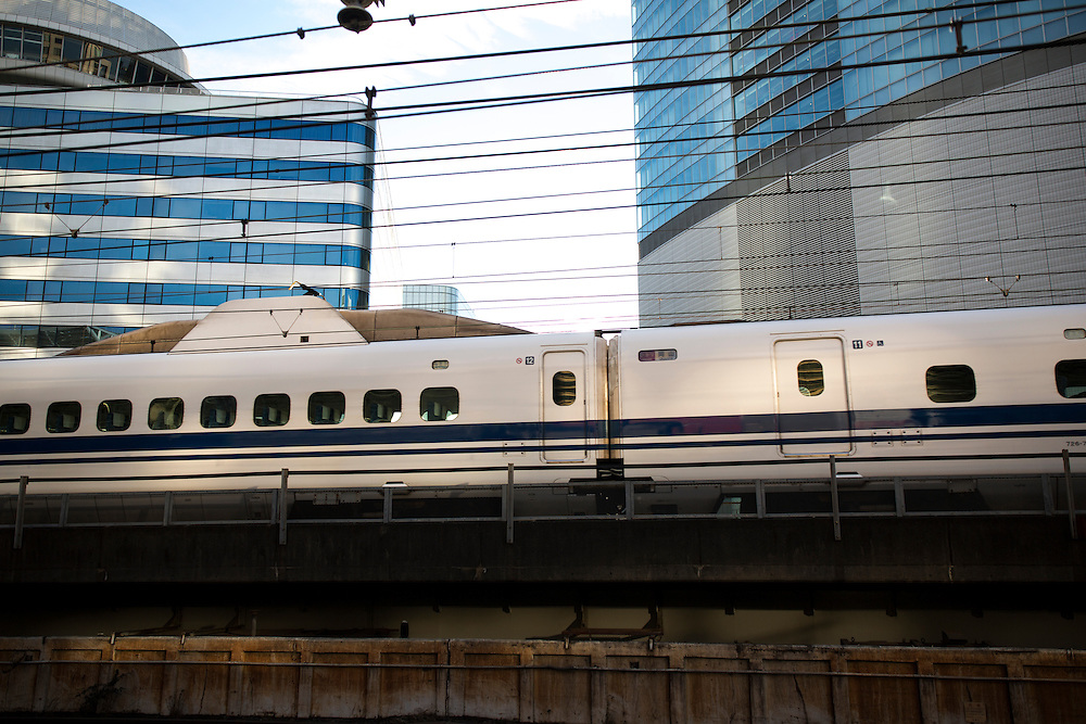 TOKYO, JAPAN - DECEMBER 6 : Bullet train is seen at Tokyo Station on December 6, 2015, Tokyo, Japan.<br />   <br /> Photo: Richard Atrero de Guzman