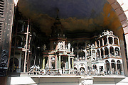 Austria, Salzburg, Morzg, Hellbrunn Castle, Trick fountain a mechanical, water-operated and music-playing theatre