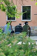Mannheim. 14.07.17 | Spinelli<br /> Feudenheim. Spinelli. Ehemaliges US Areal wird derzeit als Fl&uuml;chtingsunterkunft verwendet. <br /> 2023 soll hier die Bundesgartenschau BUGA stattfinden.<br /> - Tag der offenen T&uuml;r.<br /> <br /> <br /> BILD- ID 0412 |<br /> Bild: Markus Prosswitz 14JUL17 / masterpress (Bild ist honorarpflichtig - No Model Release!)