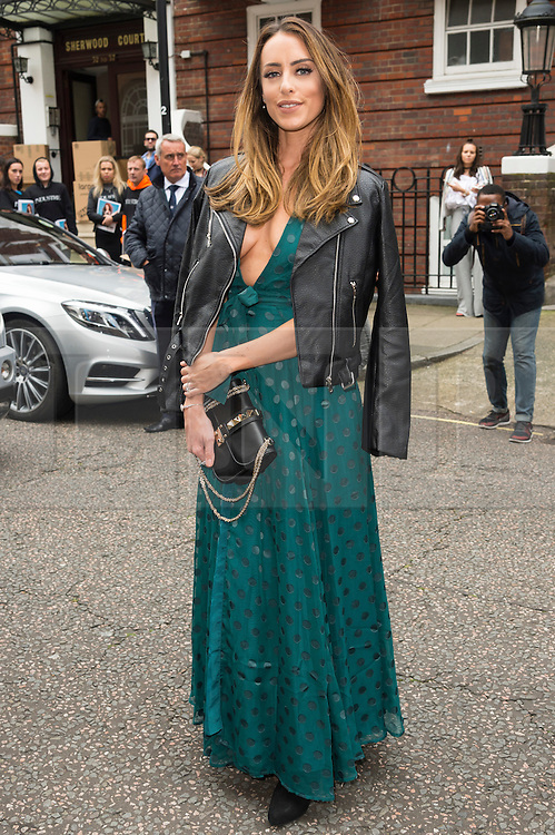 © Licensed to London News Pictures. 17/09/2016. SABRINA CHAKICI arrives for the JULIEN MACDONALD Spring/Summer 2017 show. Models, buyers, celebrities and the stylish descend upon London Fashion Week for the Spring/Summer 2017 clothes collection shows. London, UK. Photo credit: Ray Tang/LNP
