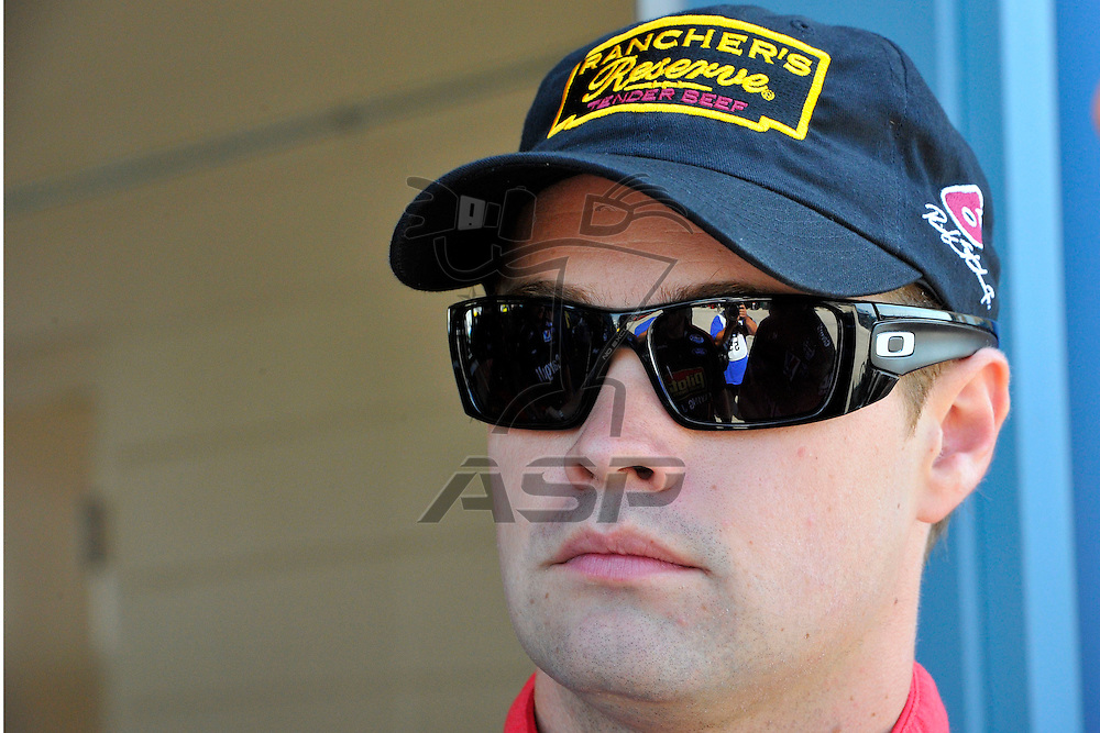 Joliet,Il - JUL 21, 2012: Ricky Stenhouse, Jr. (6) waits in the garage during practice for the STP 300 at Chicagoland Speedway in Joliet, Il.