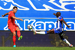 Dejan Lovren of Liverpool and Sanmi Odelusi of Wigan - Mandatory by-line: Matt McNulty/JMP - 17/07/2016 - FOOTBALL - DW Stadium - Wigan, England - Wigan Athletic v Liverpool - Pre-season friendly