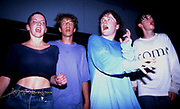 Clubbers on the main stage at the Hacienda Club, Manchester, UK 1989