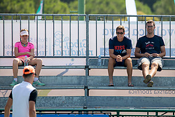 Aljaz Bedene and Miha Mlakar at ATP Challenger Zavarovalnica Sava Slovenia Open 2018, on August 4, 2018 in Sports centre, Portoroz/Portorose, Slovenia. Photo by Urban Urbanc / Sportida