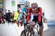 BELGIUM / KOKSIJDE / CYCLING / WIELRENNEN / CYCLISME / CYCLOCROSS / CYCLO-CROSS / VELDRIJDEN / WERELDBEKER / WORLD CUP / COUPE DU MONDE / U23 / AANKOMST / FINISH / ARRIVEE / ZIEL / (L-R) TIM MERLIER (BEL) / DAVID VAN DER POEL (NED) /